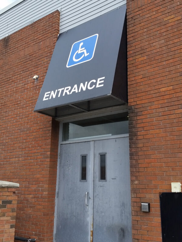 Handicap Awning Sign in Barrie